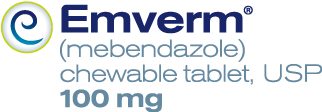 EMVERM (mebendazole) 100-mg Chewable Tablets